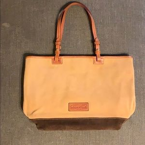 Brown Suede Dooney & Bourke purse excellent cond.